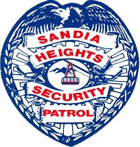 Sandia Heights Security Shield badge